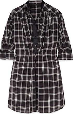 Marc Jacobs Woman Pussy-bow Appliquéd Checked Silk Shirt Dress Light Blue Size 4 Marc Jacobs Outlet Locations 2ip6EGCqq
