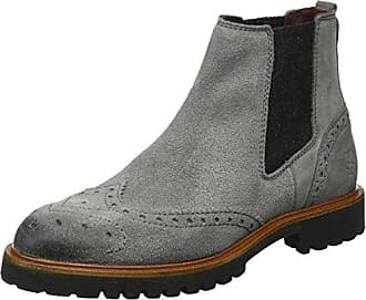 61012905002300 Flat Heel Chelsea, Zapatillas de Estar por Casa para Mujer, Gris (Grey 920), 37 1/3 EU Marc O'Polo