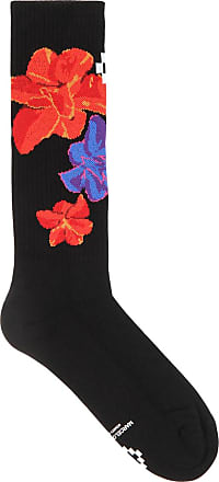 Black floral-intarsia socks Marcelo Burlon Cheap Sale Supply Discount Browse Rw77MUsE