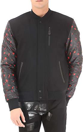 Jacket for Men, Black, Nylon, 2017, L M Marcelo Burlon