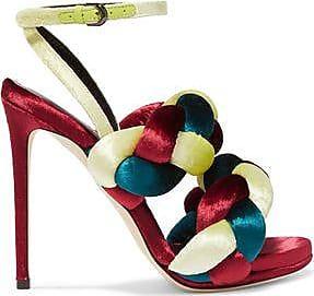 Marco De Vincenzo Woman Braided Velvet Sandals Claret Size 35 Marco De Vincenzo g4Ej2
