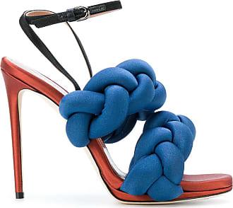 Marco De Vincenzo Woman Leather-trimmed Fringed Satin Slippers Cobalt Blue Size 39 Marco De Vincenzo bnWR0