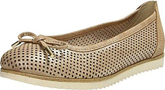 Sarangani EAS1325, Damen Ballerinas, Beige (Beige + orange), EU 37 Zap Shoes