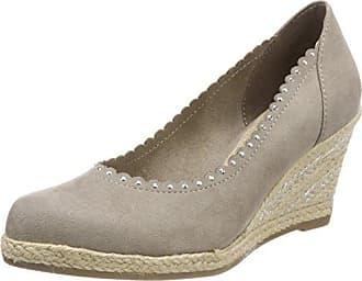22450, Zapatos de Tacón para Mujer, Gris (Dk.Grey Met.), 41 EU Marco Tozzi