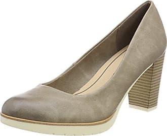22435, Zapatos de Tacón para Mujer, Negro (Black Antic), 39 EU Marco Tozzi