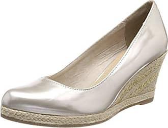 22449, Zapatos de Tacón para Mujer, Gris (Dk.Grey Pat.c.), 39 EU Marco Tozzi