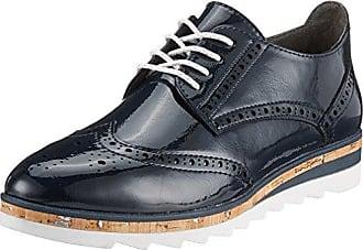 Marco Tozzi 23715, Zapatos de Cordones Brogue para Mujer, Azul (Navy Patent), 36 EU