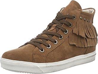 0021607 - Zapatillas Altas de Cuero Mujer, Color Marrón, Talla 36 EU Hirschkogel