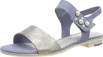 Marco Tozzi 28345, Sandalias de Talón Abierto para Mujer, Azul (Navy Comb), 38 EU