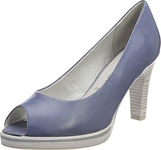 22307, Zapatos de Tacón para Mujer, Azul (Navy Comb 890), 36 EU Marco Tozzi