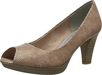 29302, Zapatos de Tacón con Punta Abierta para Mujer, Rosa (Rose Metallic), 40 EU Marco Tozzi