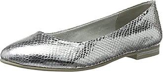 24233, Ballerines Femme - Argent - Silber (Silver 941), 38Marco Tozzi