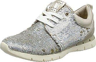 23700, Sneakers Basses Femme, Argent (Silver Comb), 42 EUMarco Tozzi