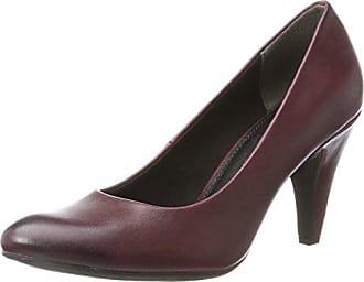 22433, Zapatos de Tacón para Mujer, Rojo (Merlot Velvet 555), 37 EU Marco Tozzi