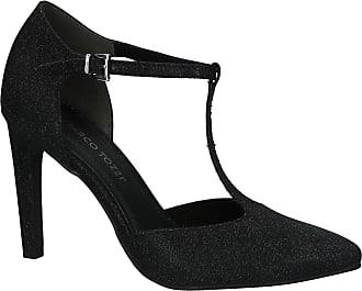 Femmes Marco Tozzi 22440 Pompes Plate-forme - Noir (verni Noir), Taille: 41