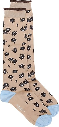 Intarsien-Socken mit Leopardenmuster - Nude Marni
