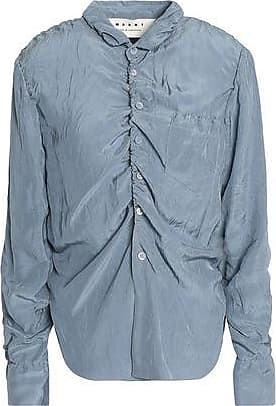 New For Sale Marni Woman Ruched Crinkled-shell Shirt Yellow Size 44 Marni Bulk Designs Nl6X31