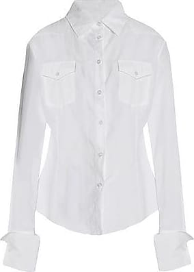 Discount Looking For Marques Almeida Woman Gathered Cotton-poplin Shirt White Size M Marques Almeida Cheap Get Authentic xrUlAr