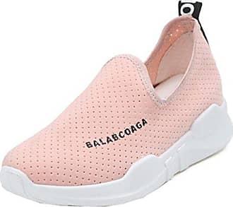 Damen Modisch Süß Künstliche Perlen Dick Sohle ohne Verschluss Loafers Pink 35 EU Easemax noB8HKIvT