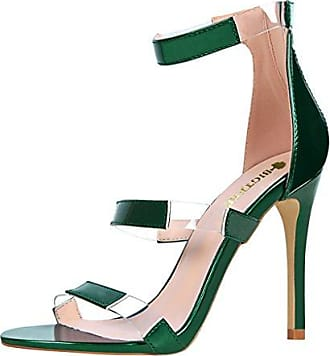 SHOWHOW Damen Sexy Party Schuh High Heels Peep Toe Pumps Sandale Weiß 37 EU JoEAOdLk7
