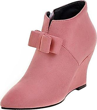 Cingant Woman Damen Stiefelette/High Heels/Elegante Damenschuhe/Halbhohe Stiefel/Blockabsatz/Schwarz, EU 38