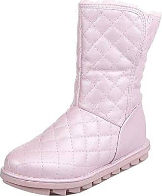 SHOWHOW Damen Süß Wasserdicht Kurzschaft Stiefel Flach Schneestiefel Pink 35 EU SdypryDZH