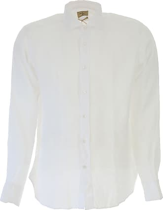 Shirt for Men On Sale, White, linen, 2017, 15.75 16 16.5 17 17.5 18 Matteucci 1939