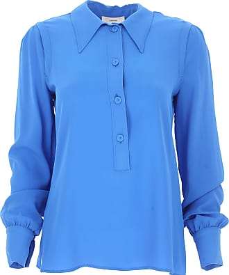 Top for Women On Sale, Royal Blue, Cotton, 2017, 6 8 Mauro Grifoni