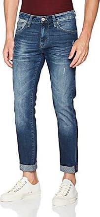 James, Vaquero Skinny para Hombre, Blau (Dark Brushed Comfort 24066), 34W x 32L Mavi
