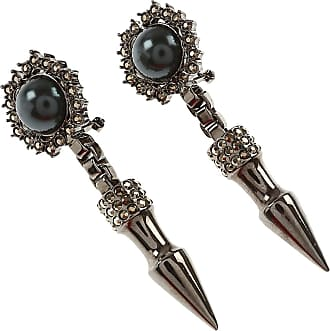 Mawi Earrings for Women, Black, Crystal, 2017, One Size