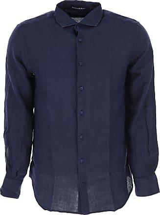 Shirt for Men On Sale, White, linen, 2017, 15.5 15.75 16 16.5 Matteucci 1939