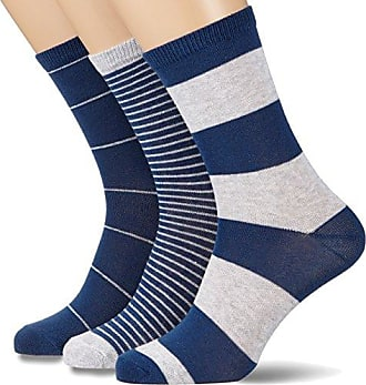 Womens 3er Pack Socken Versch. Gestreift Socks, Mehrfarbig (Blush Rose 503), 7.5 pack of 3 Melton