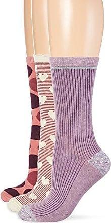 Womens 3er Pack Socken Versch. Gestreift Socks, Mehrfarbig (Blush Rose 503), 7.5 pack of 3 Melton