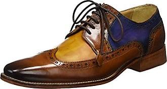 Melvin & Hamilton Lewis 4, Zapatos de Cordones Oxford para Hombre, Multicolor (Crust Turquoise, Smog, Navy, LS Blk Crust Turquoise, Smog, Navy, LS Blk), 43 EU