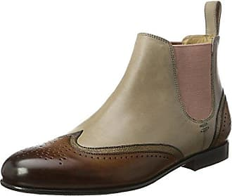 Melvin & Hamilton Sally 16, Bottes Chelsea Femme, Multicolore (Crust Tan Navy Hrs), 37 EU