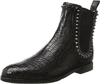 Melvin & Hamilton Jessy 10, Chelsea Boots Femme, Noir (Crust Black/Guana Black/Ela.Black/Hrs Crust Guana/Black Ela. Black/Hrs), 40 EU