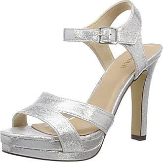 Menbur Anora, Chaussures Compensées Femme, é (Silber 09), 40 EU
