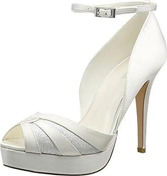 Menbur Wedding Estrella, Sandales à plateforme femmes - Blanc - Elfenbein (Ivory 04), Taille 40 EU
