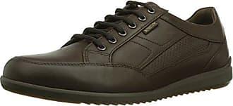 Mephisto - Zapatillas de Cuero Hombre, Color Gris, Talla 44 EU