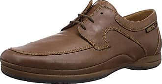 Mephisto - Zapatos de cordones de cuero para hombre, color marrón, talla 41.5