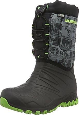 Merrell Congère 2.0 Imperméable - Senderismo Hauteur Zapatos De Haute Niños, Noir / Gris / Vert, 28 Eu