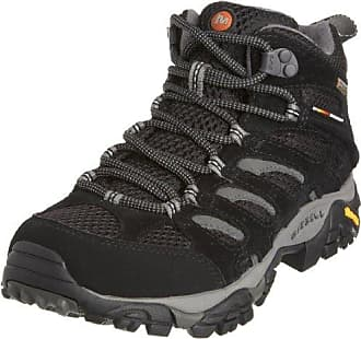 Merrell Damen Moab FST Mid Gore-Tex Trekking-& Wanderstiefel, Schwarz (Schwarz/Teal), 38 EU