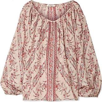 Pantalon Large En Soie Lavée Imprimée Bogdan - Vieux roseMes Demoiselles... 6yl3x