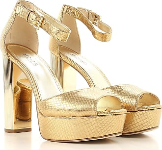 Sandals for Women On Sale, Gold, Leather, 2017, US 7.5 (EU 37.5) Michael Kors