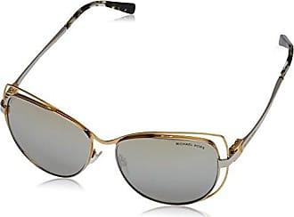 Michael Kors Damen Sonnenbrille 0MK Sweet Escape 11396G 0, Matte Silver Iridescent/Silvermirror, 0