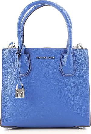Michael Kors Top Handle Handbag On Sale, Electric Blue, Leather, 2017, one size