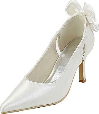 Minitoo Damen Pumps, Beige - Ivory-9.5cm Heel - Größe: 36