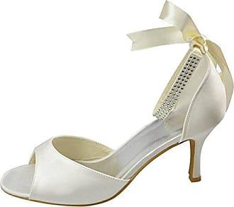 Damen Pumps, braun - Champagne-7.5cm Heel - Größe: 38 Minitoo