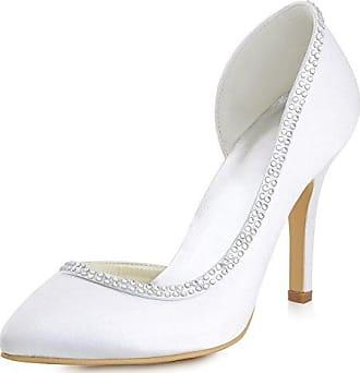 Minitoo , Damen Pumps, weiß - White-7.5cm Heel - Größe: 38