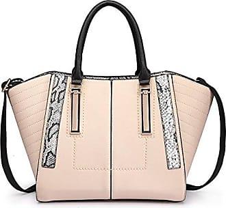 Damen Handtaschen Hologramm Geometrische Split Joint Plaid Tragetaschen,White-OneSize ADEFG